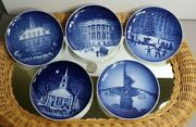 Christmas In America Bing And Grondahl 5 Plates 1986-87-88-89 And 96 Set Of 5