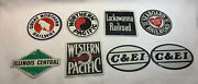 Vintage 1950's Post Cereal Railroad Train Metal Tin Signs Lot Of 8 S1