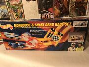 1993 Vintage Hot Wheels Mongoose And Snake Drag Race Set New In Box Sealed