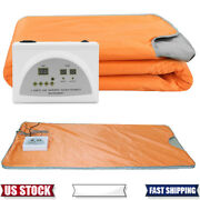 Far Infrared Thermal Sauna Blanket Heating Therapy Slim Detox Spa Weight Loss Us