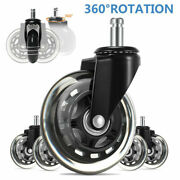 5pcs Office Chair Caster Swivel Wheels Replacement Heavy Duty Double Casters 3