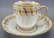 New Hall Pattern 136 Hand Painted Floral Coffee Cup And Saucer Circa 1787 - 1798