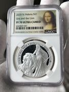 Ngc Pf70 2020 1oz St.helena Una And The Lion Silver Coin Proof Tiny Spots