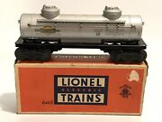 Lionel 6465 Sunoco 2-dome Tank Car Tanker With Original Box Works Perfectly