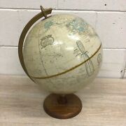 Vintage Crams Imperial World Globe No. 12 Includes Ussr And Mongolia B131