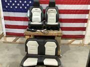 16-20 Camaro Ss Black/white Leather Seat Set Blown Bag Heated/cooled