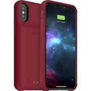 Mophie Juice Pack Access Shockproof Battery Case Ipxs Dark Red For Apple