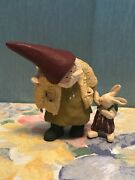"""Annekabouke Gnomy's Diaries Figure Gnome With Bunny 3.5""""t"""