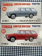Tomica Limited Vintage Lv-81ab Datsun Bluebird Estate Wagon Silver And Red Two