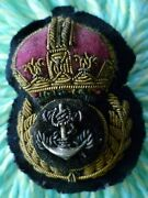 Ww2 Royal Navy Chief Petty Officer Cloth Badge Padded Bullion Wire Antique Org