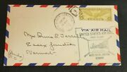 1934 First Flight Air Mail Cover White River Junction Essex Junction Vermont