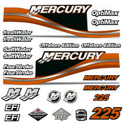 Outboard Engine Graphics Kit Sticker Decal For Mercury 225 Orange
