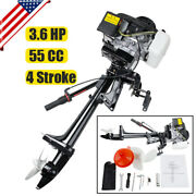 4 Stroke 3.6hp Outboard Motor 55cc Boat Strong Engine With Air Cooling System Us