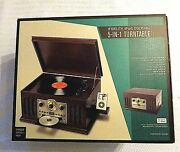 Ifidelity 5-in-1 Record Turntable And Cd Player Ipod Docking Analog Am/fm Radio