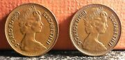 Nice Set New Pence Coins 1980 And 1981 Pre 1983 Errors