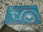1968 Original 1st Edition Corvette Owners Manual With Full News Card-nice