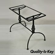 Vintage Gallo French Style Black Wrought Iron Pastry Dining Table Desk Base