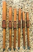 Set Of 6 Vintage Wood Organ Pipe Great Music Lovers Decor Decoration Flue Pipes