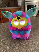 Furby Interactive Toy 2012 Purple Pink Blue Hearts Works Great