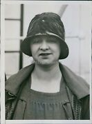 Vintage Woman Feathered Hat Stands Coat Dress Ladder Historic Photo 6x8