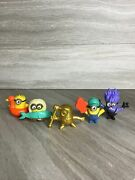 Lot Of 5 2019 Mcdonalds Minions Despicable Me Toys 1 Gold And 4 Color Figures