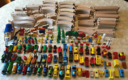 Vintage Huge Lot Thomas And Friends Trains Space Shuttle Wooden Tracks People 300+