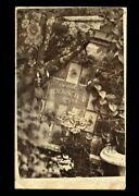 Rare Double Sided Cdv With Photographer Advertising, 1800s Trade Card