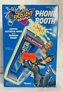 1991 Kenner Bill And Tedandrsquos Excellent Adventure Phone Booth New Noc Moc