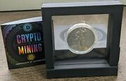 2021 Niue 2 Crypto Mining 50g .999 Silver Antiqued Coin 500 Mintage