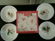 Lenox Winter Song Dip Bowls Set Of 4 Berries Holly New In Box