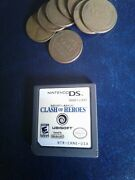 Nintendo Ds Nds Game Might Magic Clash Heroes W/bonus Wheat Penny One Cent