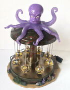 Lemax Retired Spooky Town Octo-swing Halloween Carnival Ride Rare Tested Working