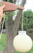 Cool Vintage 60s 70s Mid Century Modern Wall Hanging Pendant Lamp