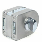 Stainless Steel 10mm-12mm Glass Double Door Lock For Window Cabinet Display Box