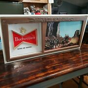 Budweiser 50s And 60s Beer Champion Clydesdale Horse Team Bar Light Sign