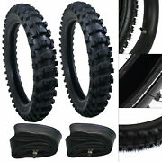 Bicycle Front Rear Tire Tube Kit For Dirt Pit Bikes 50-150cc 70/100-19 90/100-16