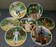 Rare Knowles Wizard Of Oz Plates Set Of 7 Decorative