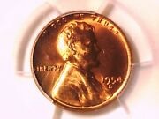 1954 S Lincoln Wheat Cent Penny Pcgs Ms 66 Rd 38955822
