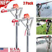 Automatic Spring Fishing Rod Holder Pole Stand Ground Support Bracket Foldable