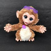 Furreal Friends Baby Cuddles My Giggly Monkey Pet Plush Interactive Toy Works