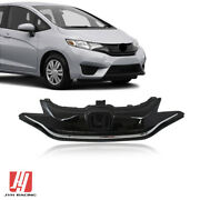 Front Upper Grille Grill Factory Gloss Black And Chrome For Honda Fit 2015-2017