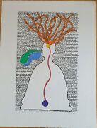 Peter Schmidt Hand Signed Lithograph Brian Eno Interest