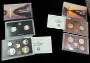 2021 Us Mint S-silver Proof Set And 2021 Proof Set W/boxes And Coas