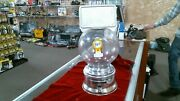 Vintage Ford Gum Gumball Machine With Plastic Globe And Advertisement