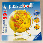 Ravensburger 3d Puzzle Ball - Earth World Globe 960 Pcs With Stand - All Pieces