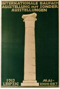 Original Vintage Poster Architecture And Building Expo 1913