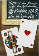 Original Vintage Poster Coffee Hag And Playing Cards 1948