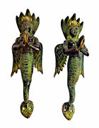 Mermaid Lady Snake Woman Victorian Style Brass Handcrafted Door Pull Handle Knob