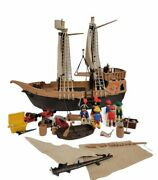 Playmobil Vintage Large Pirate Ship Boat 3550 - Not Complete - Figures, Acc.