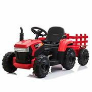 Tobbi 12v Battery-powered Toy Tractor With Trailer And 35w Dual Motors,3-gear-sh